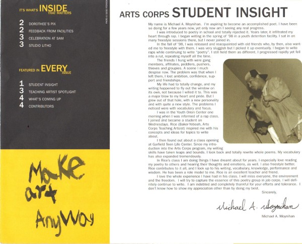 Arts Corps Article