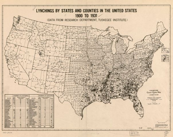 Lynching by State 1900 to 1931